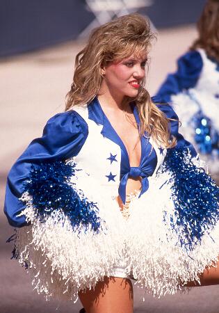 Blonde DCC cheerleader